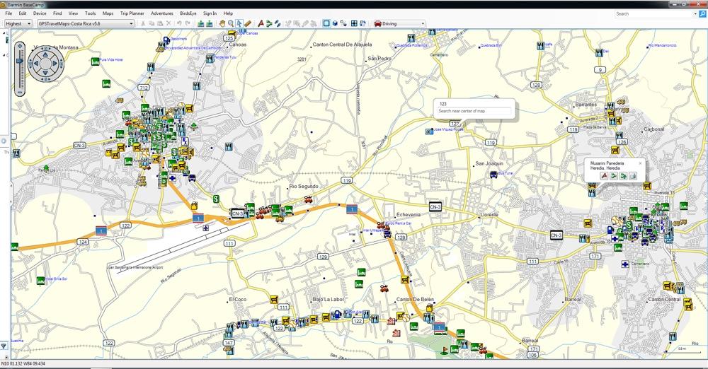 gps with costa rica maps Alajuela Costa Rica Heredia Gps Garmin Map Gpstravelmaps Com gps with costa rica maps