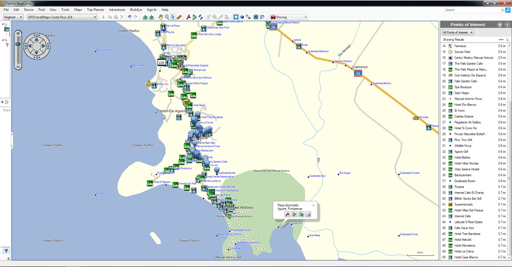 gps with costa rica maps Costa Rica Gps Map For Garmin Gpstravelmaps Com gps with costa rica maps