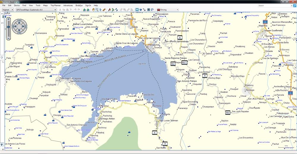 Solola Guatemala Map panajachel map atitlan solola mapa   GPSTravelMaps.com