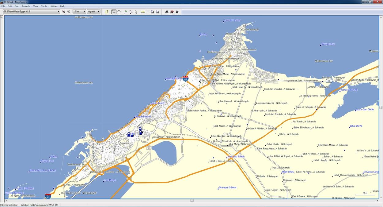 alexandria-map-egypt-nuvi - GPSTravelMaps.com