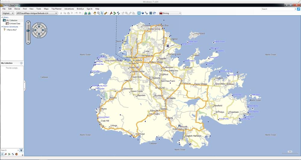 Antigua & Barbuda GPS Map for Garmin | GPSTravelMaps.com