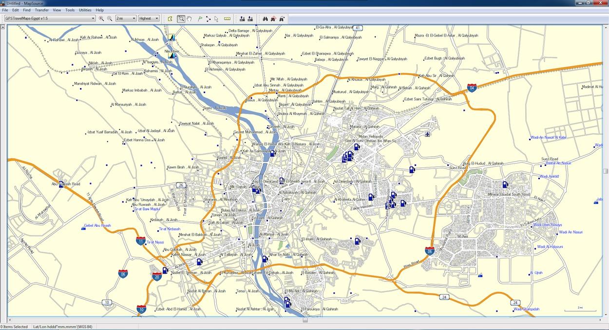 Gps Maps Egypt Egypt GPS Map for Garmin   GPSTravelMaps.com