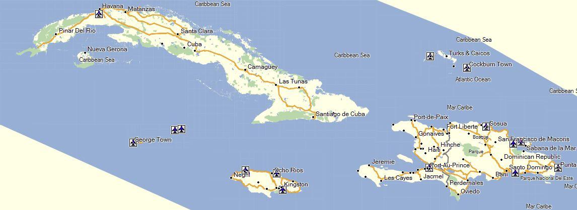 Caribbean North - GPSTravelMaps.com