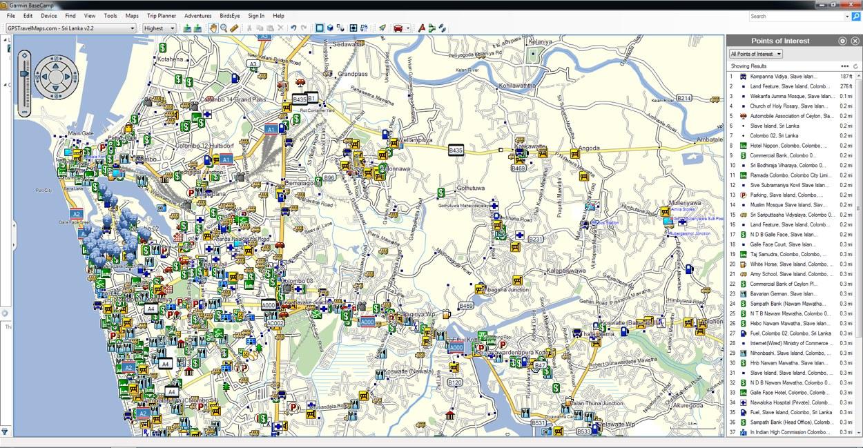 Sri Lanka GPS Map for Garmin | GPSTravelMaps.com on asus download, acer download, hp download, apple download,