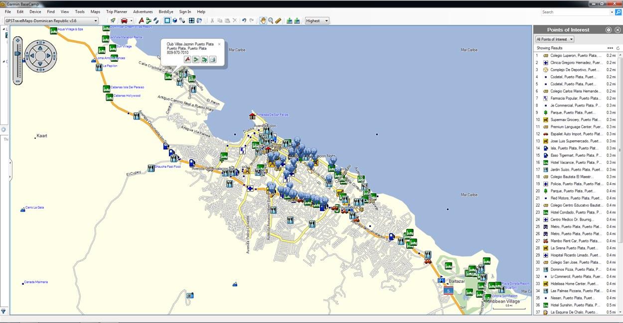 Dominican Republic GPS Map for Garmin | GPSTravelMaps.com on
