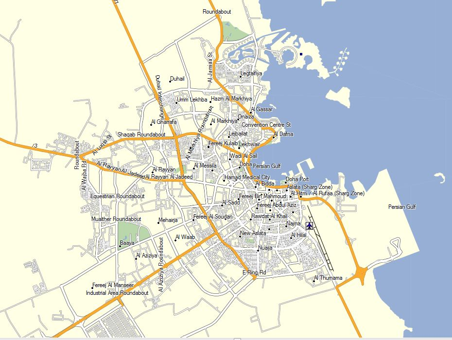 qatar-gps-map-doha-driving-navigation - GPSTravelMaps.com on