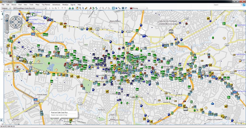 Central America South GPS Maps for Garmin | GPSTravelMaps.com