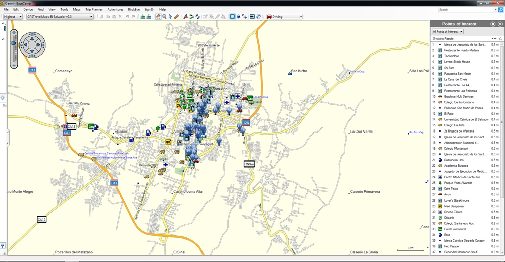 El Salvador GPS Map for Garmin   GPSTravelMaps.com on map of san pedro de macoris, map of san cristobal de las casas, map of asunción, map of honduras, map of pereira, map of central america, map of ilhabela, map of campinas, map of south of the border, map of ciudad del este, map of isla margarita, map of regions of brazil, map of san pedro de atacama, map of culiacan, map of san pedro la laguna, map of sunset boulevard, map of guatemala, map of bissau, map of la serena, map of antarctic sound,