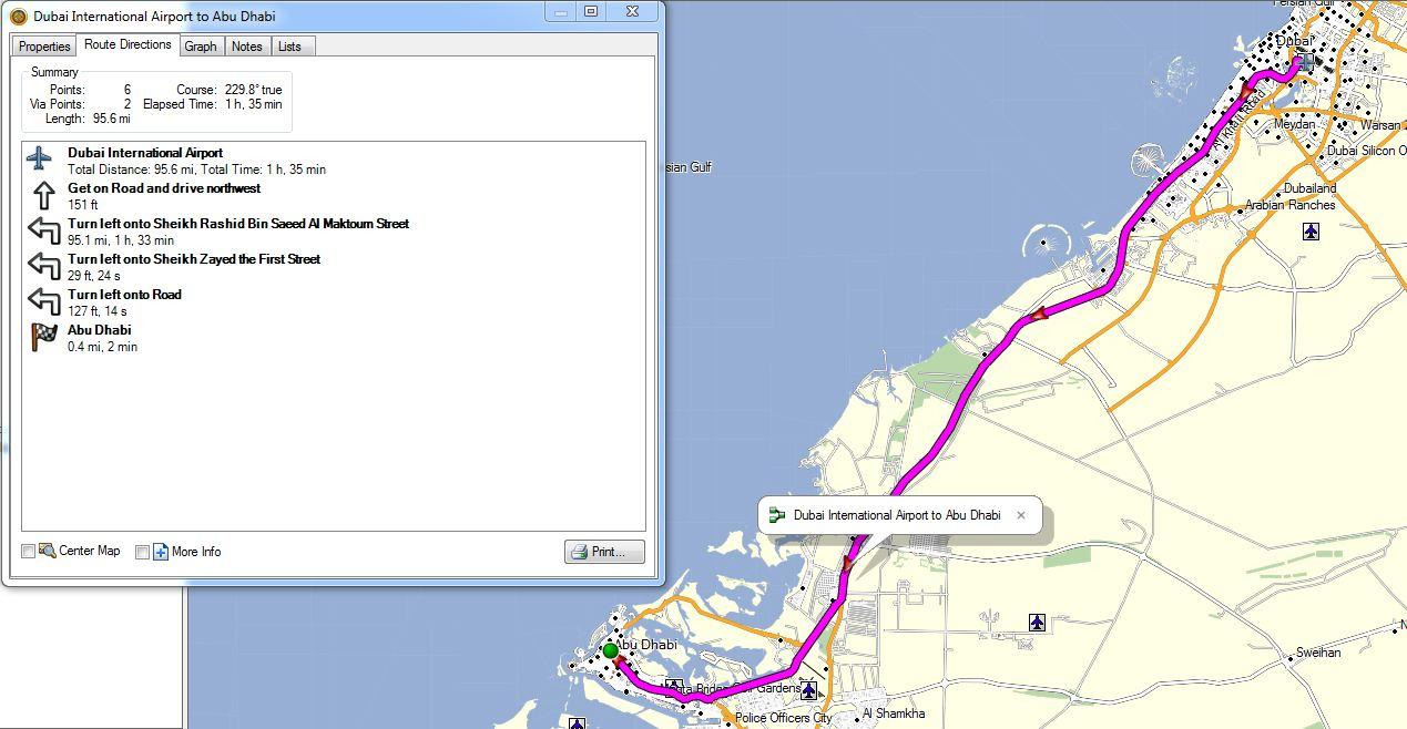 United Arab Emirates GPS Map for Garmin   GPSTravelMaps.com